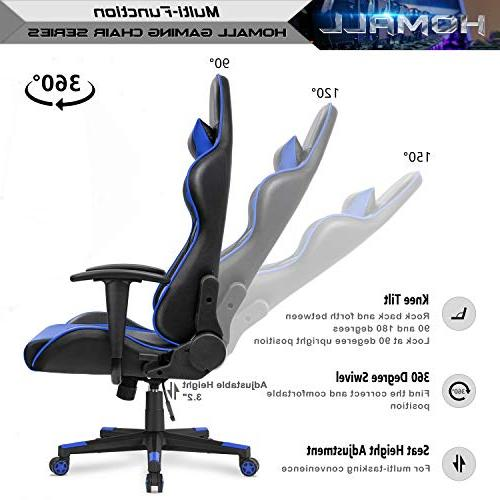 Homall Gaming Computer Chair Racing Style Back PU Leather Ergonomic Swivel Chair with and Support