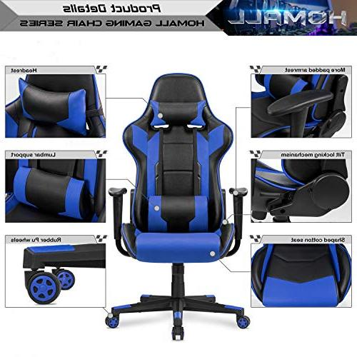 Homall Office Computer Chair Style Leather Ergonomic Style Swivel with and Support