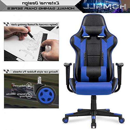 Homall Gaming Office Chair Computer Desk Leather Chair Executive with Support