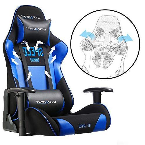 GTRACING Gaming Chair Adjustable E-Sports Chair Computer with