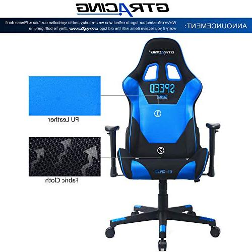 GTRACING Chair Adjustable E-Sports Chair Computer with Pillows