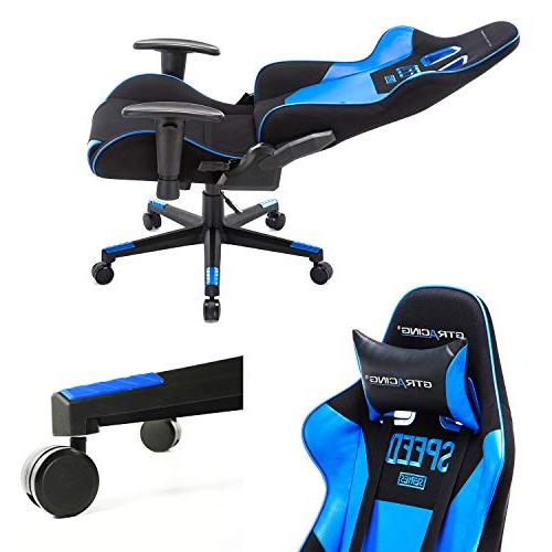 GTRACING Chair and Adjustable Chair Ergonomic Computer with Pillows