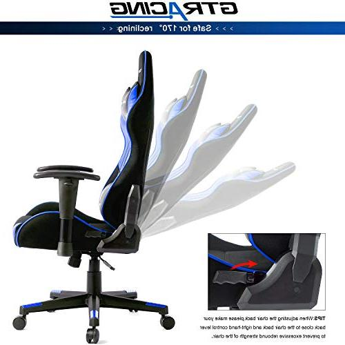 GTRACING Racing Chair Adjustable E-Sports Chair Ergonomic Computer Office with Pillows