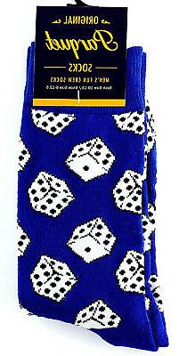 Gambling Dice Men's Socks Novelty Crew Game Fun Casual Fashi