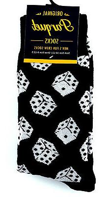 Gambling Dice Men's Socks Novelty Game Fun Casual Fashion Gi