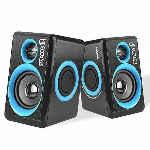 Gaming Speakers PC Surround Sound System 6x9 Loud Deep Bass
