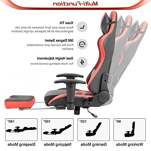 Homall Gaming Chair High-Back Racing Leather Seat,Computer Office Chair Chair