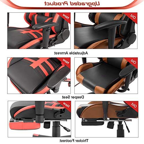 Homall Gaming High-Back Racing Leather Office and Lumbar Support Executive Chair