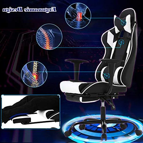 BestOffice Chair Chair Swivel High Racing with and Headrest