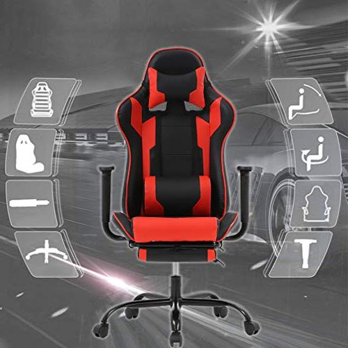 BestMassage Office Chair Chair Ergonomic Swivel High with and Headrest