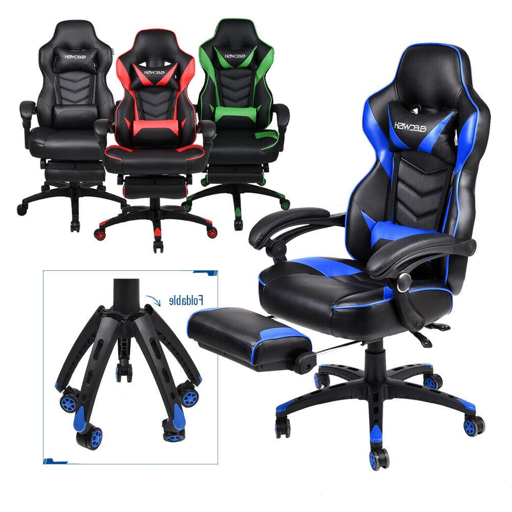 Office Home Gaming Chair Leather Adjust High Back Computer D