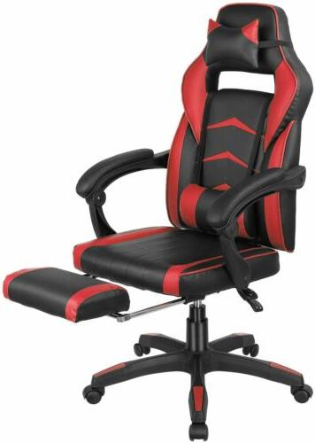 Gaming Racing Recliner Computer Seat Swivel Footrest