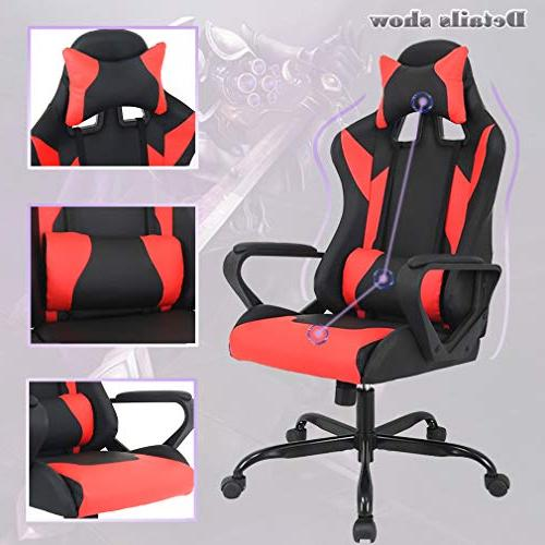 Gaming Chair Racing Office Chair Leather Reclining Desk Executive Rolling Chair Women, Men