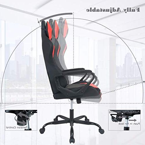 Gaming Chair Racing Office Ergonomic Desk Chair Executive Swivel Rolling with Headrest for Women,