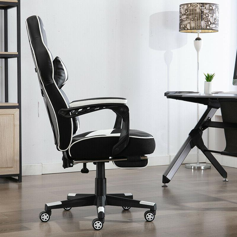 Gaming Racing Style PU Office Computer Desk