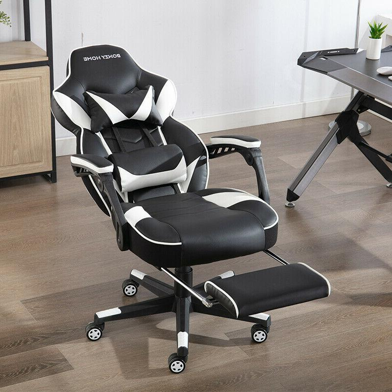 Gaming Chair Racing Style PU Computer