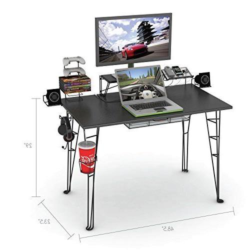 Gaming Computer Desk Workstation Laptop Table Office Home Fu