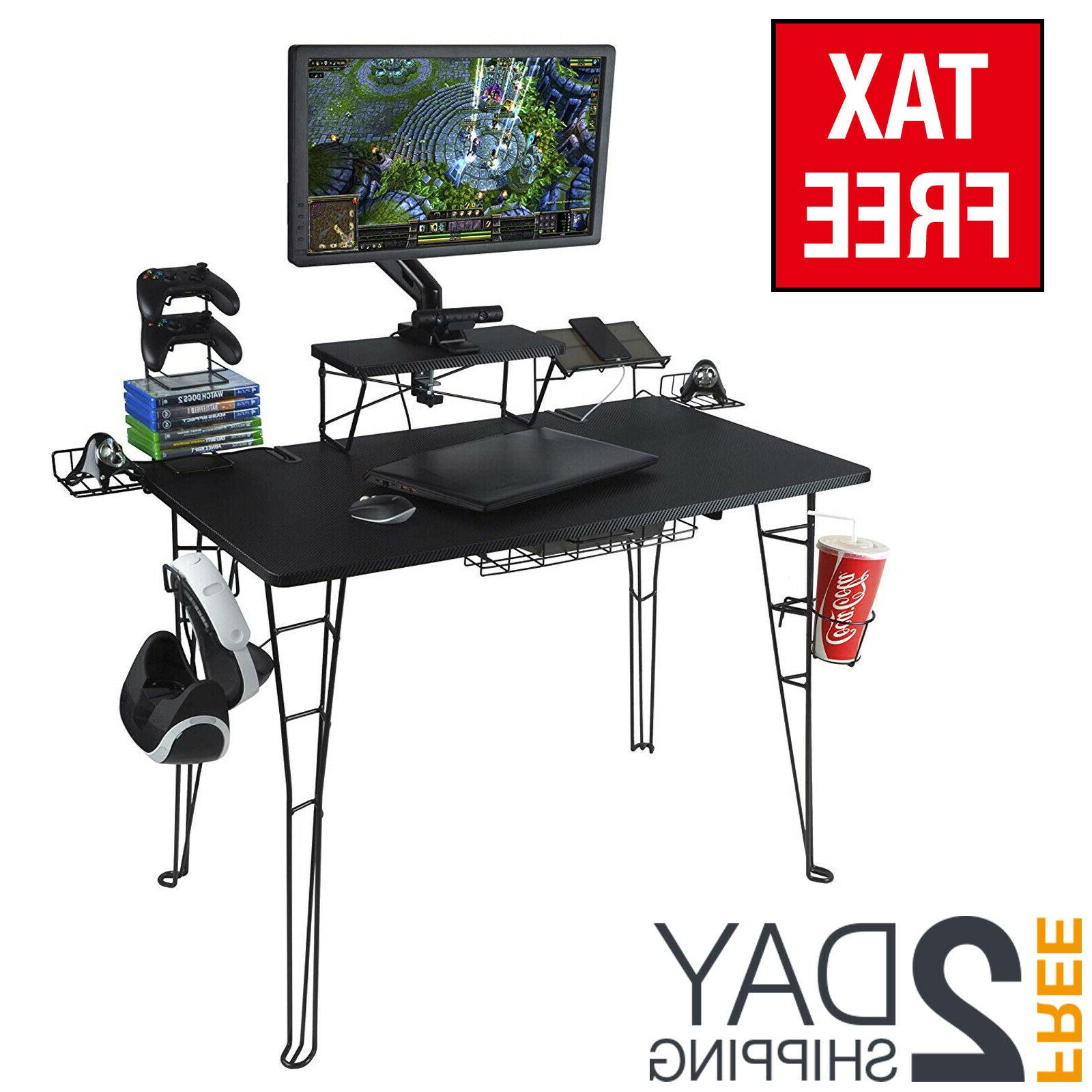 gaming desk table for ps4 with shelf