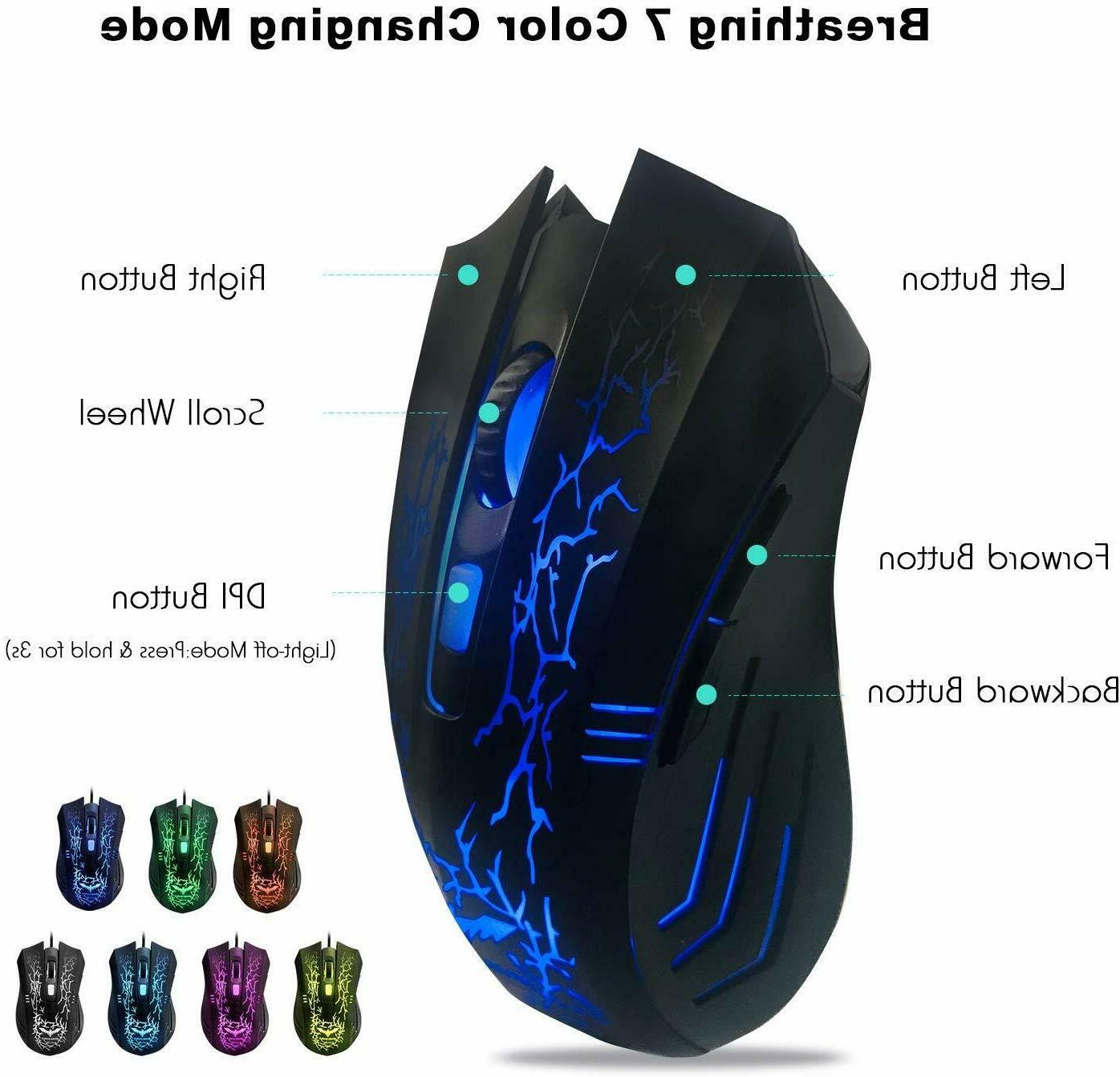Gaming Keyboard Mouse & Mouse PC, Computer, & PS4