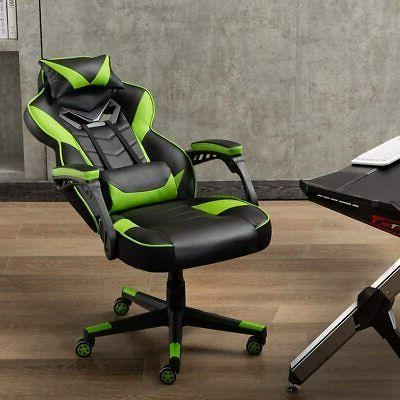 Gaming Racing Swivel Chair Computer Leather High Back Executive
