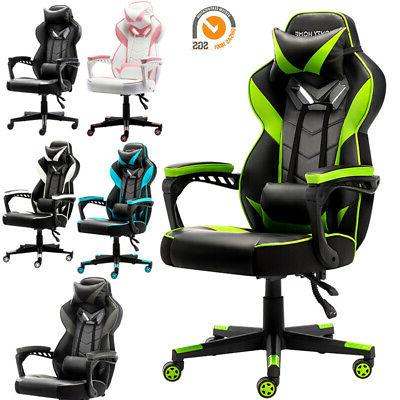 gaming racing swivel chair computer leather high