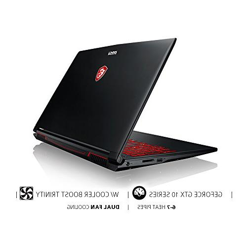 MSI Full Laptop GeForce Graphics, 8GB 128GB SSD 1TB Drive, Red Keyboard
