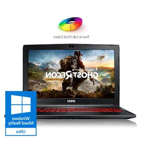 MSI GL62M Full Gaming Laptop Computer GeForce SSD Drive, Steelseries Red Keyboard