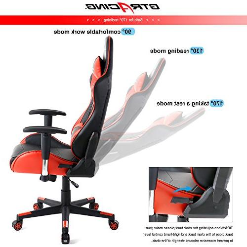 GTracing Chair Racing Seat Height Computer Chair Pillows Swivel Rocker Tilt Chair