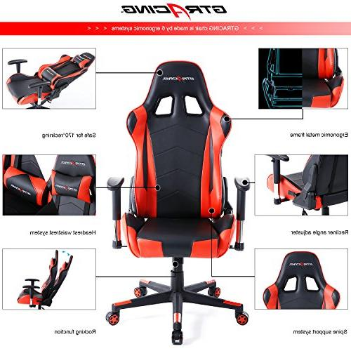 GTracing Chair Racing and Seat Adjustment Computer Chair Pillows Swivel Chair