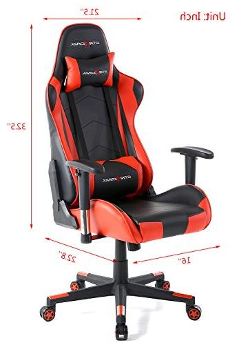 GTracing Racing and Seat Height Chair With Pillows Recliner Swivel Chair