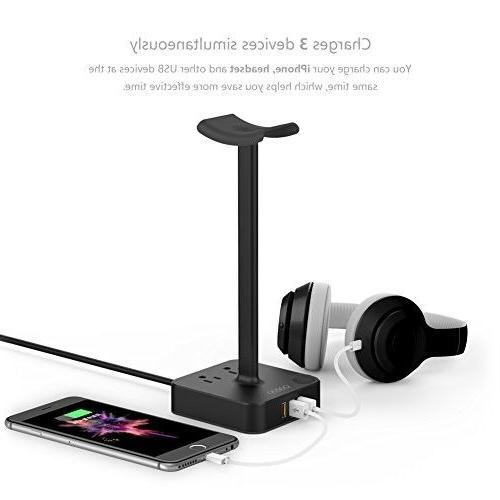 Headphone with Charger Headset Holder
