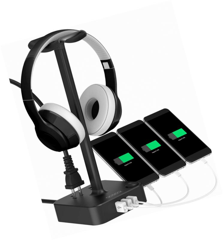 headphone stand with usb charger cozoo desktop