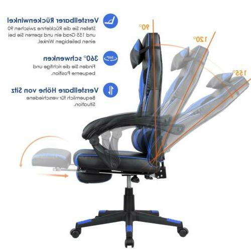 High Gaming Computer Desk Chair Adjustable Swivel Chair