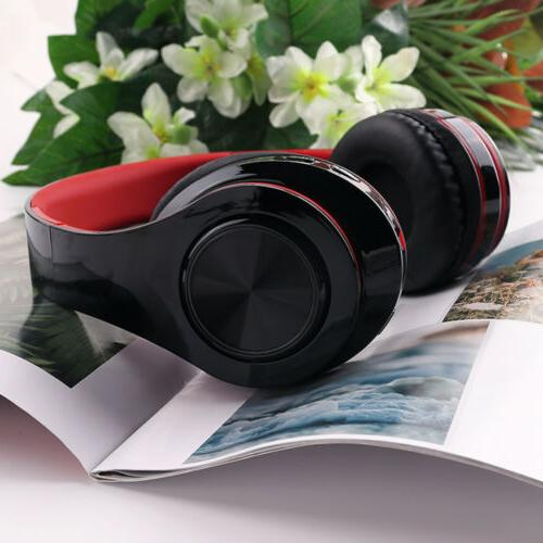 LED Wireless Headset Over With Microphone