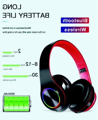 LED Wireless Bluetooth Headset Ear With Microphone
