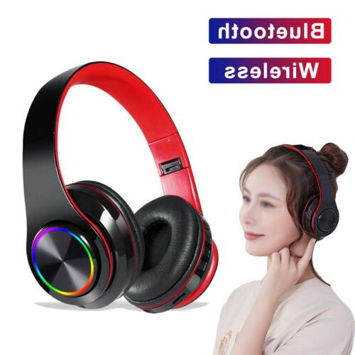 LED Wireless Headset With