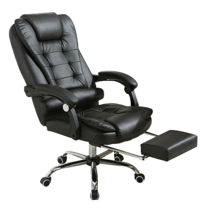 Adjustable Seat Height Office Chair Leather Desk Gaming Chai