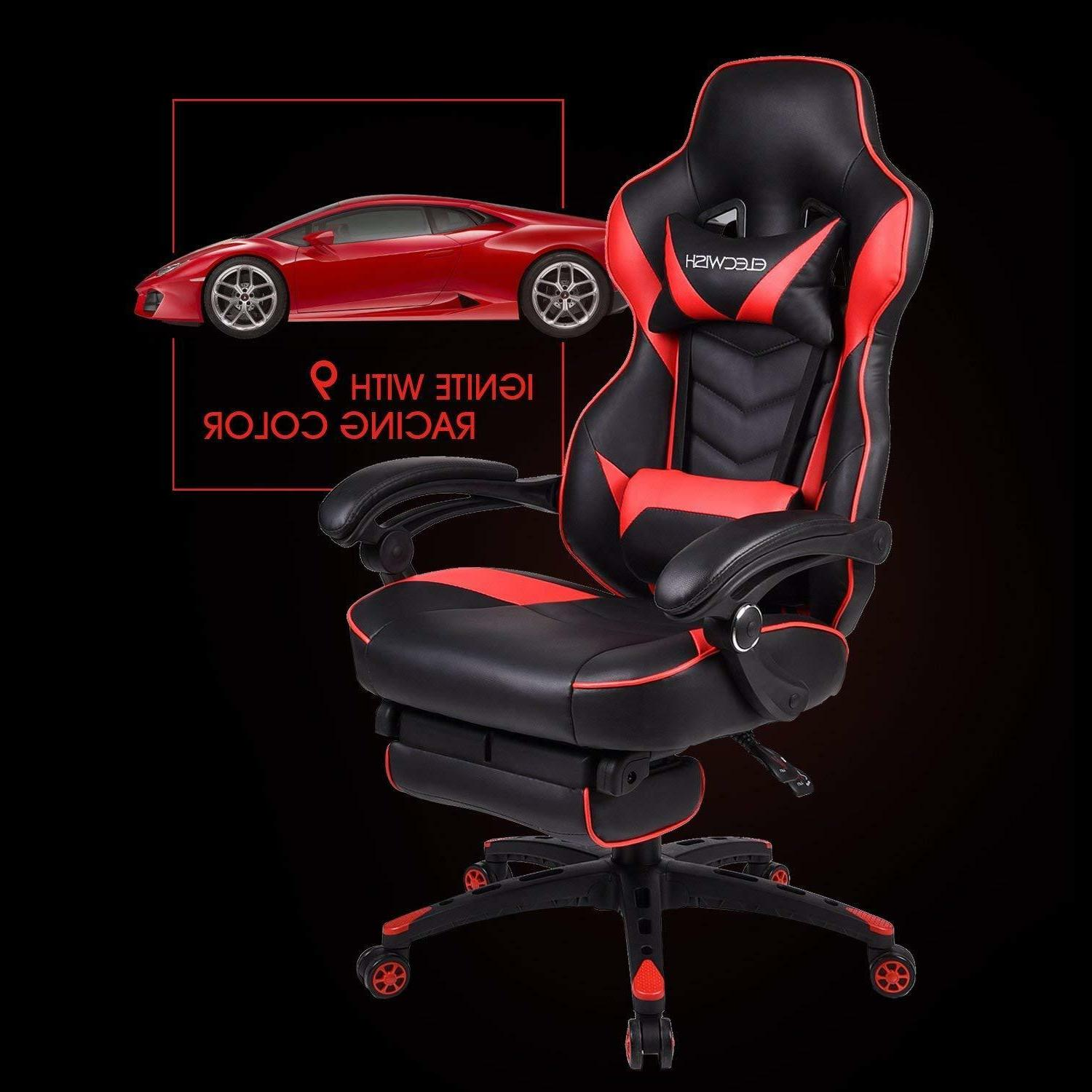 office gaming chair racing ergonomic pu leather