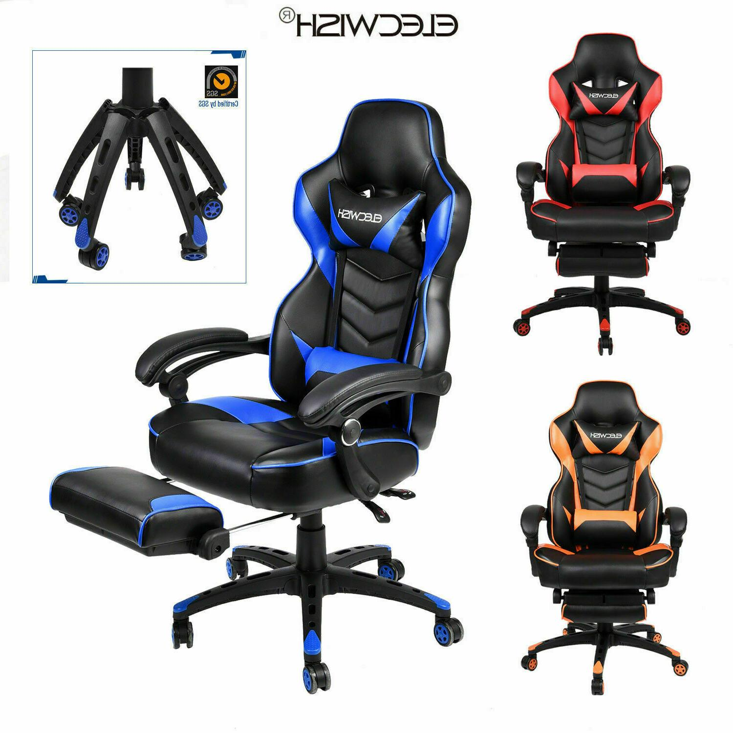 Remarkable Video Racing Gaming Chair Ergonomic Pu Leather Office Machost Co Dining Chair Design Ideas Machostcouk