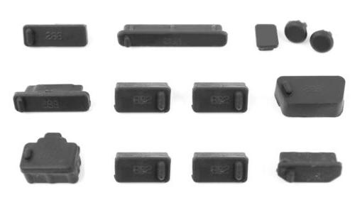 protective black dust port covers protection guards