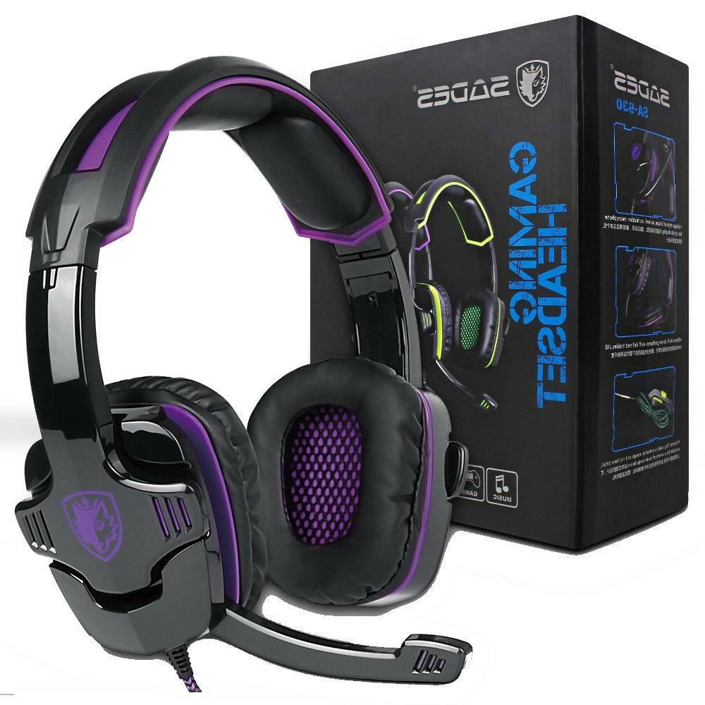 ps4 headset with mic purple stereo gaming