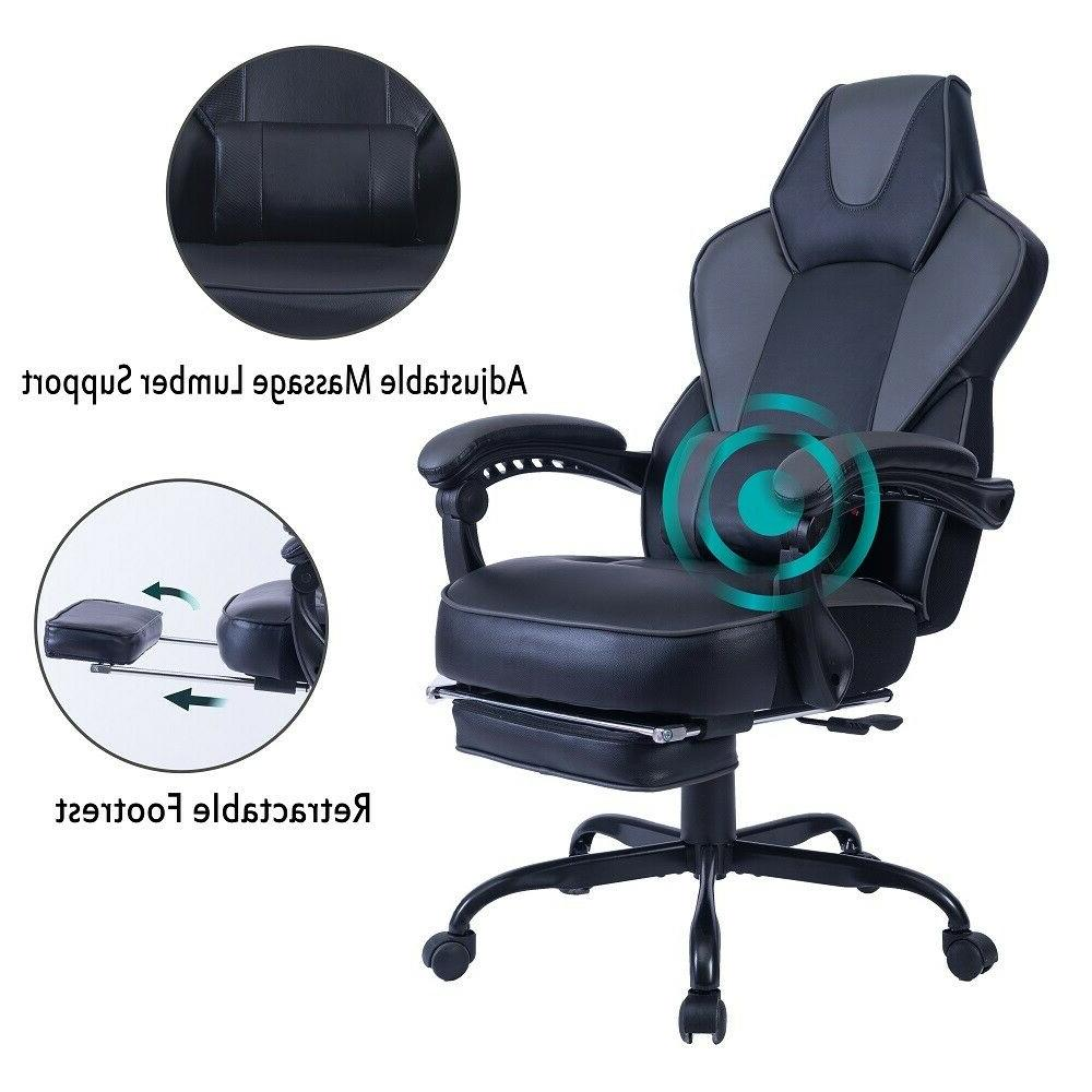 Ergonomic Computer Gaming Chair High-back Chair Swivel Racin