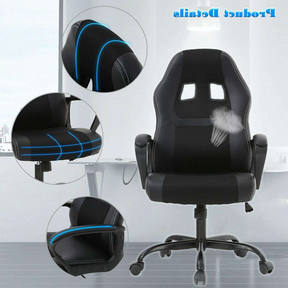 Office Chair Gaming Desk Ergonomic Leather Computer Chair w V61