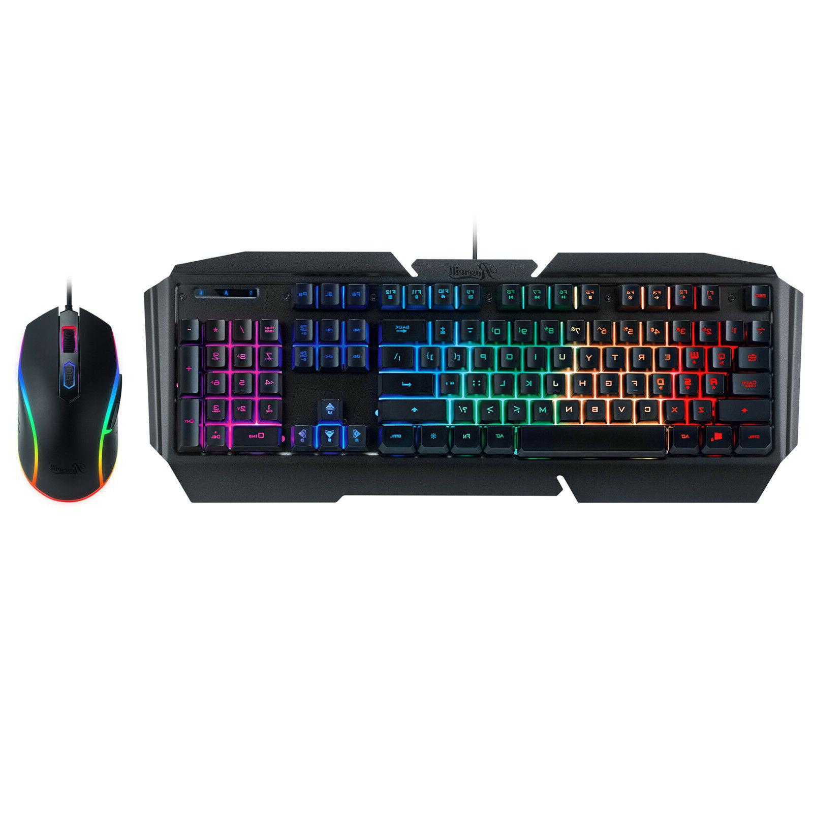 Rosewill RGB Gaming Keyboard and Mouse Combo, 9 Effects, 320