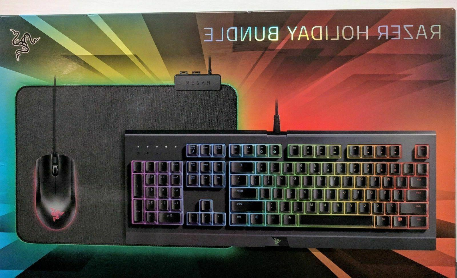 sealed 2018 holiday chroma gaming bundle cynosa
