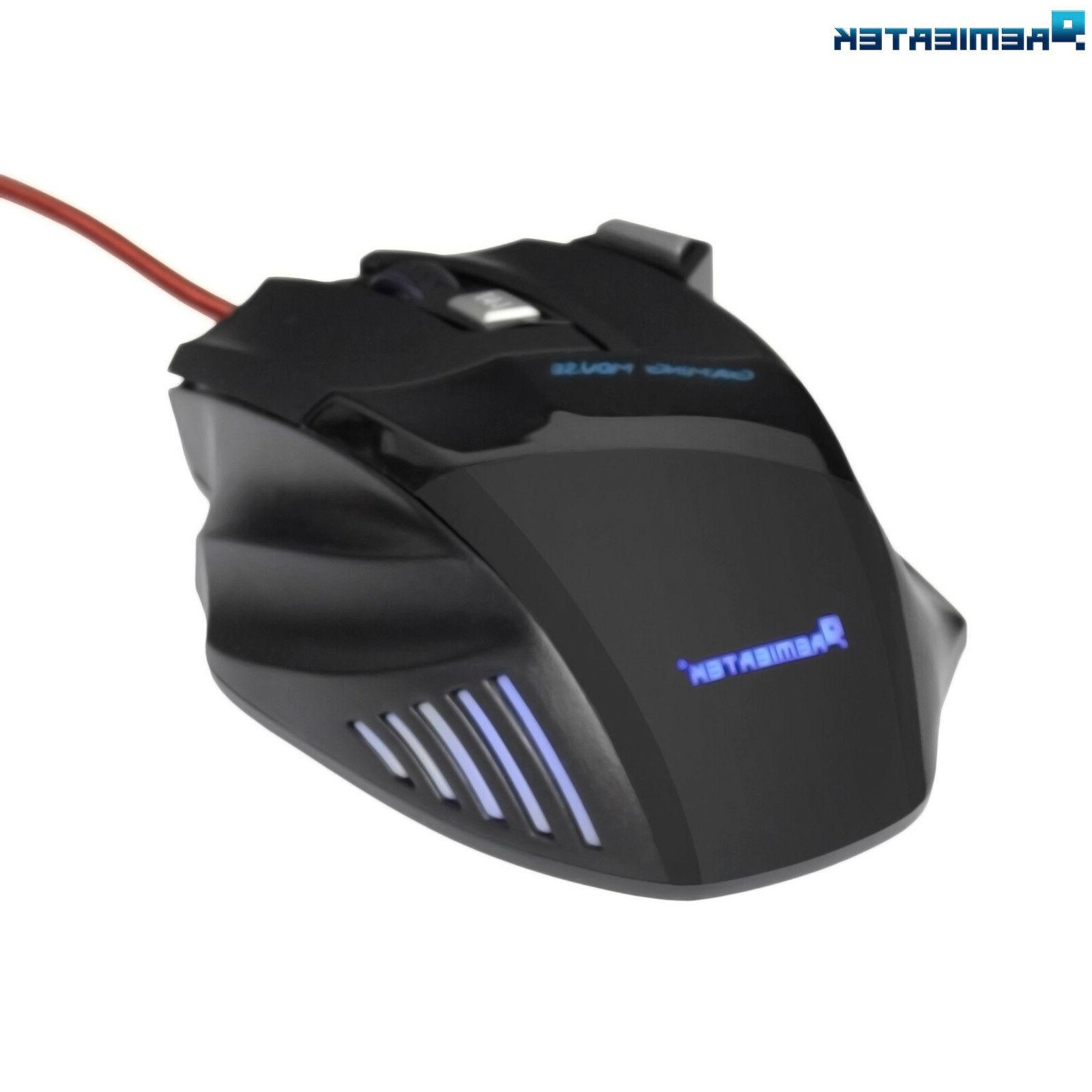 🔥Gaming Mouse 7 USB Fire Laptop