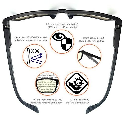 J+S Shield Computer Glasses - 0.0 - Anti light UV distortion, classic matte frame - Gear