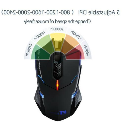 Wireless Gaming Mouse Unique 2400 for PC Laptop