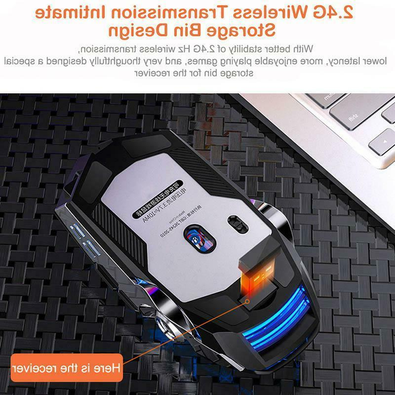 Wireless Color Gaming Usb Backlit PC