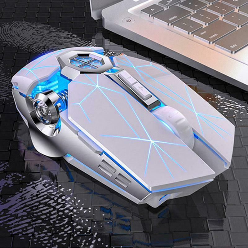 Wireless mouse Color LED Gaming Mouse Usb Backlit Rechargeable PC